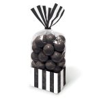 Candy Buffet Black Striped Party Bags - 24 PKG/10