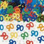 Number 90 Multi Colour Metallic Confetti 14g - 12 PC