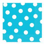 Caribbean Blue Dots Luncheon Napkins 33cm - 12 PKG/16
