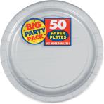 Silver Paper Plates 23cm - 6 PKG/50