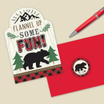 Little Lumberjack Postcard Invitations - 6 PKG/8