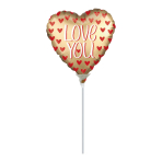 Love You Satin Luxe Mini Foil Balloons A15 - 5 PC