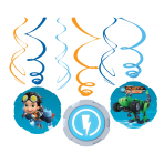 Rusty Rivets Swirl Decorations - 6 PKG/6