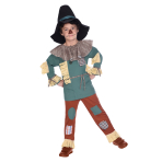Wizard of Oz Scarecrow Costume - Age 8-10 Years - 1 PC