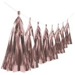 Metallic Rose Gold Tassel Garlands 6m - 6 PC