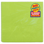 Kiwi Green Paper Dinner Napkins 40cm 2ply - 12 PKG/50