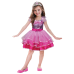Barbie Ballet Girls Costume - Age 8-10 years - 1 PC