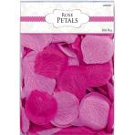 Bright Pink Fabric Confetti Petals - 6 PKG/300