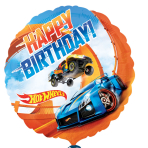 Hot Wheels Happy Birthday Standard Foil Balloons - S60 5 PC