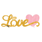 Love Glitter Stand-up Table Decoration 35cm x 11cm - 12 PC