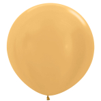 "Metallic Solid Gold R 570 Latex Balloons 36""/91.5cm - 2 PC"