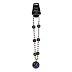 50th Bead Necklaces 76cm - 6 PC
