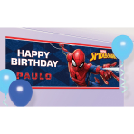Spider-Man Customisable Plastic Banners 1.2m x 45cm - 6 PC