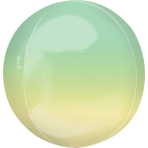 "Ombre Yellow & Green Orbz Packaged Foil Balloons 15""/38cm w x 16""/40cm h G20 - 5 PC"