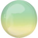 "Ombre Yellow & Green Orbz Foil Balloons 15""/38cm w x 16""/40cm h G20 - 5 PC"