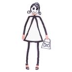Stick Women Costume - Size 10-12 - 1 PC
