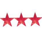 Red Foil Star Cutouts 23cm - 8 PKG/5