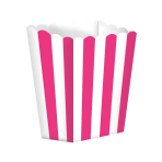 Bright Pink Candy Buffet Popcorn Treat Boxes - 24 PKG/5