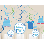With Love - Boy Swirl Decorations - 12 PKG/12