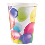Balloon Fiesta Paper Cups 266ml - 10 PKG/8