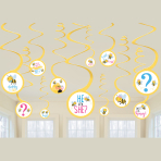 What Will It Bee? Swirl Decorations - 12 PKG/12