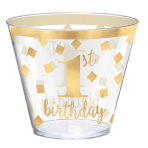 1st Birthday Hot Stamped Tumblers 266ml - 6 PKG/30