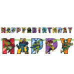 Rise of the Teenage Mutant Ninja Turtles Happy Birthday Letter Banners 2.1m x 13cm - 6 PC