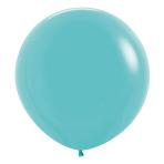"""Fashion Colour Solid Caribbean Blue 038 Latex Balloons 24""""/60cm - 3 PC"""