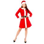 Mrs Santa Basic Costume - Size 10-12 - 1 PC