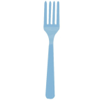Powder Blue Forks    - 12 PKG/20