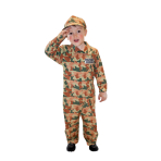 Boys Camouflage Army Costume - Age 9-11 Years - 1 PC