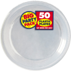 Clear Plastic Plates 18cm - 6 PKG/50