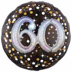 "Gold Sparkling Celebration Sparkling 60th Foil Multi-Balloons 36""/91cm w x 36""/91cm P75 - 5 PC"