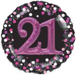 Pink Celebration 21 Foil Multi-Balloons P75 - 5 PC