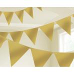 Gold Pennant Bunting 4.5m x 16cm - 6 PC