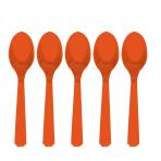 Orange Peel Plastic Spoons - 12 PKG/10