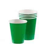 Festive Green Paper Cups 266ml - 6 PKG/20