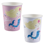 Be a Mermaid Assorted Paper Cups 250ml - 10 PKG/8