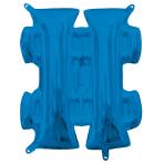 "Symbol # Blue Minishape Foil Balloons 16""/40cm A04 - 5 PC"