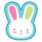 Bunny Shaped Paper Plates 24cm x 28cm - 12 PKG/8