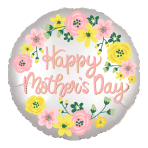 Happy Mother's Day Spring Floral Satin Luxe XL Standard Foil Balloons S40 - 5 PC