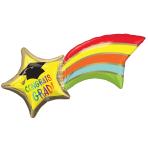 "Rainbow Grad Shooting Star SuperShape Foil Balloons 27""/68cm x 22""/55cm P35 - 5 PC"