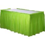 Kiwi Green Plastic Table Skirts - 6 PC