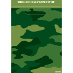 Camouflage Folded Loot Bags 22.8cm x 16.5cm - 12 PKG/8