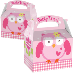 Favours Party Boxes Owl - 75 PC
