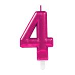 Pink Metallic Finish Candles #4 - 12 PC