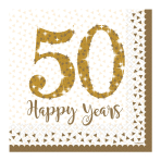 Sparkling Golden Anniversary Luncheon Napkins 33cm - 6 PKG/16