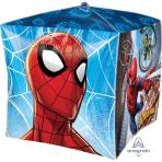 """Spider-Man Cubez Foil Balloons 15""""/38cm w x 15""""/38cm h G40 - 5 PC"""