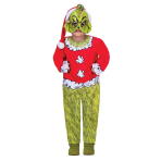 The Grinch Costume - Age 10-12 Years - 1 PC