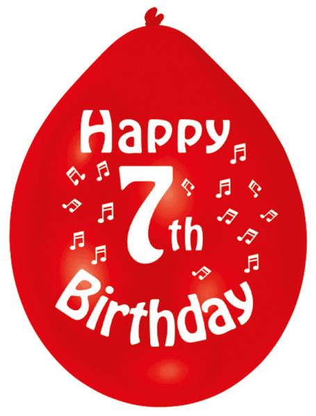 Happy 7th Birthday Latex Balloons